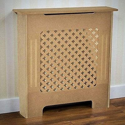 Radiator Cover Traditional Unfinished Unpainted MDF Cabinet Grill Small Solid