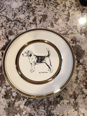 Vintage Handpainted Signed By The Artist Beagle Plate