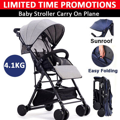 BABYCORE Fold Lightweight Compact Baby Stroller Prams Pushchair Travel Carry–on