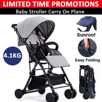 BABYCORE Lightweight Compact Portable Baby Stroller Prams Kids Travel Pushchair