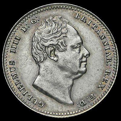 1836 William IV Milled Silver Shilling