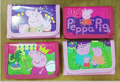 Kids Peppa Pig Coin Money Pouch Bag Purse Wallet Xmas Gifts