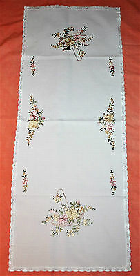 Embroidered Cream Table Runner/centre Piece