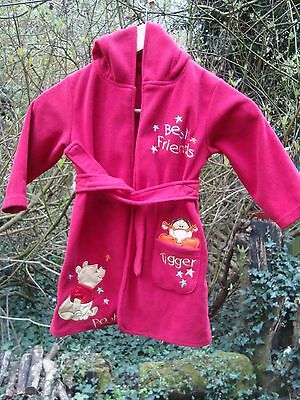 Childs (12-18 Mths )Red *winnie The Pooh*  Hooded Dressing Gown