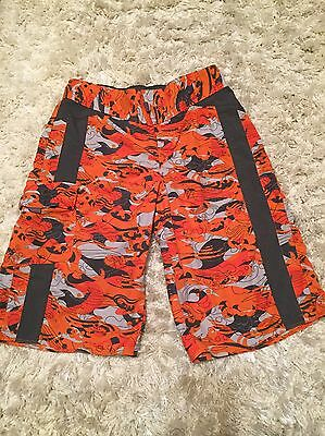 Columbia Boys Youth Large Swim Trunks Shorts Orange Gray