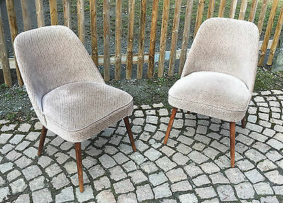 2x  MID CENTURY COCKTAIL SESSEL BROKAT EASY CHAIR.ROCKABILLY AERA 50s 50er 60s