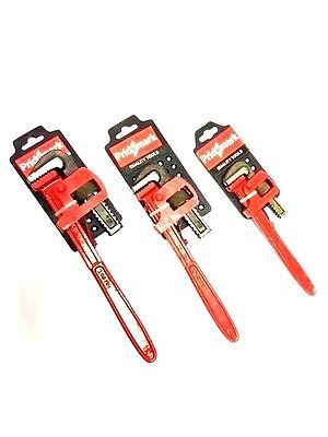 "Heavy Duty 8""-10""-12"" Pipe Wrench Water Pump Plier Monkey Wrench"