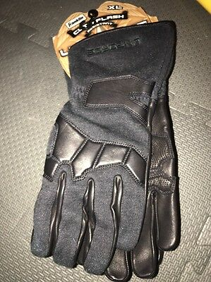 Franklin Uniforce Special Ops Gloves (Blk - XL) - Cut/Flash Resistant, Long Cuff