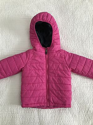 Baby Girls Milky hooded parka/puffer jacket, exc cond, size 1