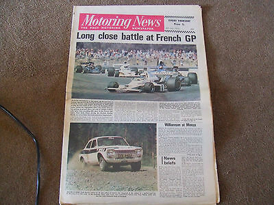 Motoring News 5 July 1973 LVX942J Works Escort RS1600 Rally Car Test French GP