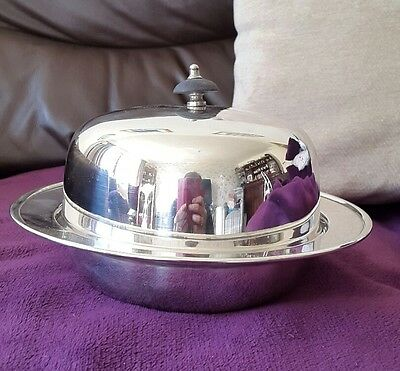 A Vintage Silver Plated Muffin Dish by James Dixon & Sons