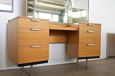 DELIVERY £50 Mid Century Retro Vintage Stag Birch Dressing Table
