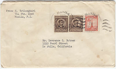 1947 Philippines cover to USA