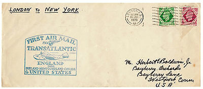 1939 1st Air Mail Cover