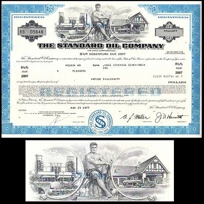 Standard Oil Company OH 1977 Stock Bond Certificate