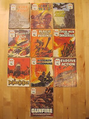 Battle Picture Library Vintage Comic Books (Set Of 10)