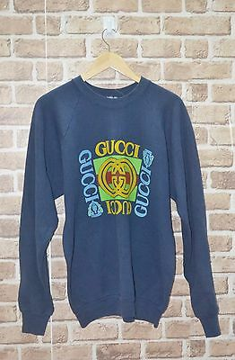 VINTAGE GUCCI GG CHAIN LOGO 80s HIP HOP LO LIFE KANYE SPELLOUT SWEATSHIRT
