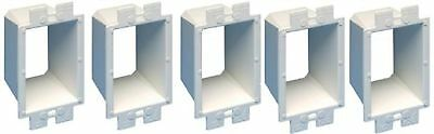 Arlington Industries BE1-5 Electrical Outlet Box Extender, 1-Gang, 5-Pack, White