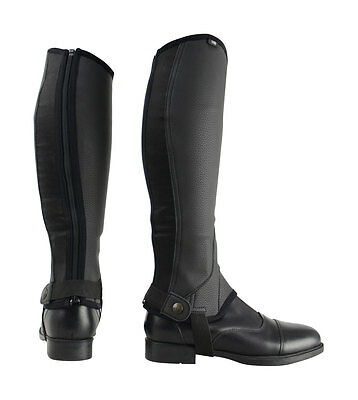 HyLAND Synthetic Combi Leather Chaps - Black