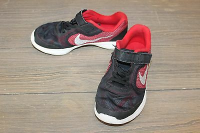 **Nike Little Boy's Revolution 3 Running Shoes, Red/Black - Size 1YW