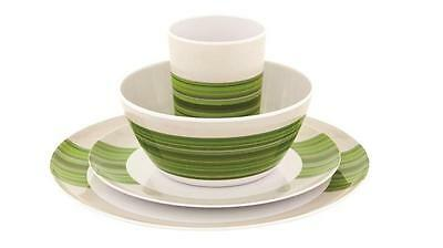 Outwell Blossom Picnic Set 4 Persons Pogonia Green Camping Melamine Dinner Set