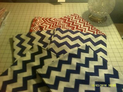 40x22 Toddler Daycare  cot sheets chevron  Print (6 sheets)