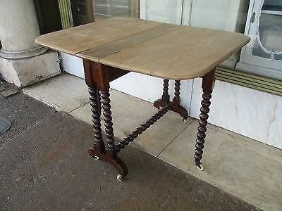 Small Victorian Antique Oak Extending Kitchen Dining Table / Gate Leg Table