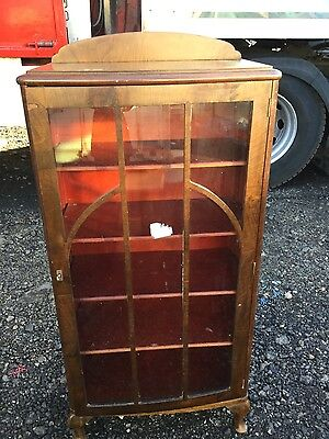 Edwardian / Victorian glass Fronted Antique Display Cabinet