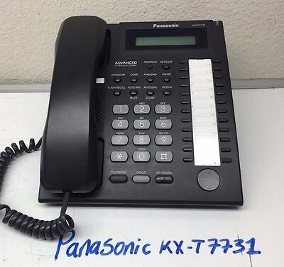 Panasonic KX-T7731 24 Button Display Phone Black W/ HANDSET  and  BASE