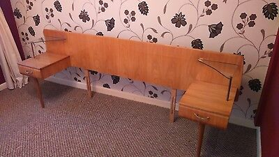Vintage /retro Double Bed Headboard / Console