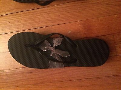 Lot of 9 Pairs Black Flip Flops