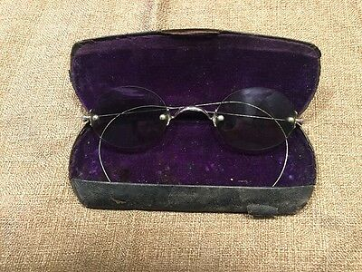 Vintage Victorian 1880s Sunglasses With Original Case