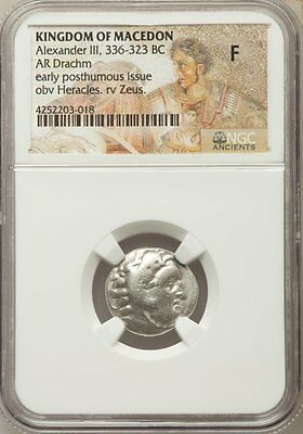 Authentic Ancient Greek Coin Alexander the Great Silver Drachm Herakles Zeus