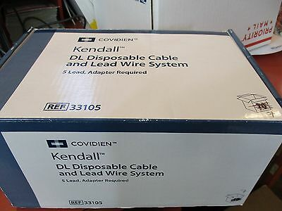 Covidien Kendall DL 5 Lead Disposable Cable and Lead System REF 33105, QTY: 7