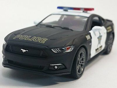 """New 5"""" Kinsmart 2015 Ford Mustang GT Police Car 1:38 Diecast Model Toy Cop Car"""