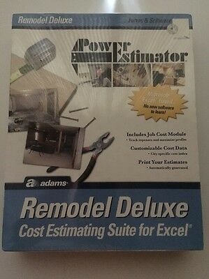 Adams Power Estimator: Remodel Deluxe - Cost Estimating Suite Excel ALB505SW