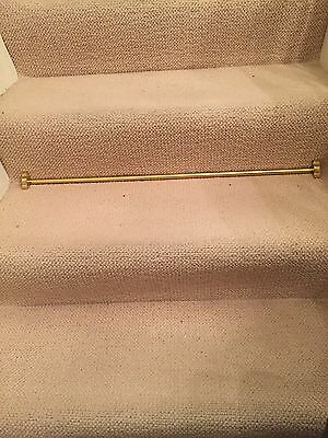 12 brass stair rods with finials