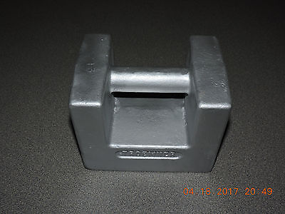 Nice Troemner 9080 50Lbs Class F Iron Grip Handle Calibration Scale Weight