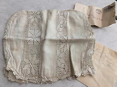 Antique French Dolls Victorian Hand Made Spanish Altar Lace Cloth