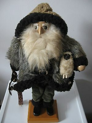 FATHER CHRISTMAS ST. Nick sheep herder wool coat SANTA claus nutcracker? 16""