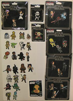 Star Wars Celebration 2017 Set of 41 Convention Exclusive Enameled Metal Pins