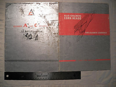 Allis-Chalmers Gleaner Aii and Cii Combines Brochure + Corn Heads  Brochure