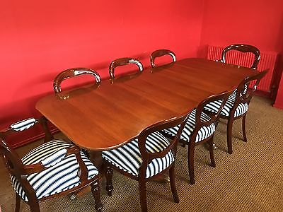 Grand George Iii Style Brazilian Mahogany Dining Table Pro French Polished