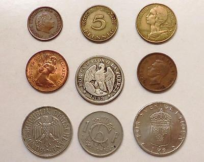 Foreign World Coins With Silver,  Lot Of 18 *dates:1893 To Present*