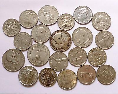 Foreign World Coins With Silver,  Lot Of 21