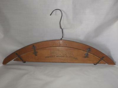 Rare SANGER BROS., DALLAS, 1902 Patented Man's Coat & Trouser Hanger - FREE SHIP