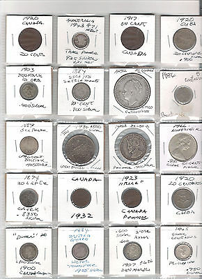 Small Lot of Early Mostly British Area Coins with Many Silver Coins