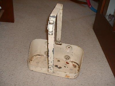 Vintage military Willys jeep/jerry gas can holder mounting bracket & strap USMC