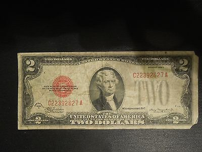 US $2 Federal Note 1928 D #C22392627A