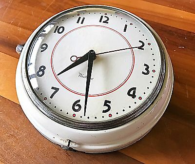 Vintage Westclox Electric Kitchen Wall Clock ORB Tested & Working!